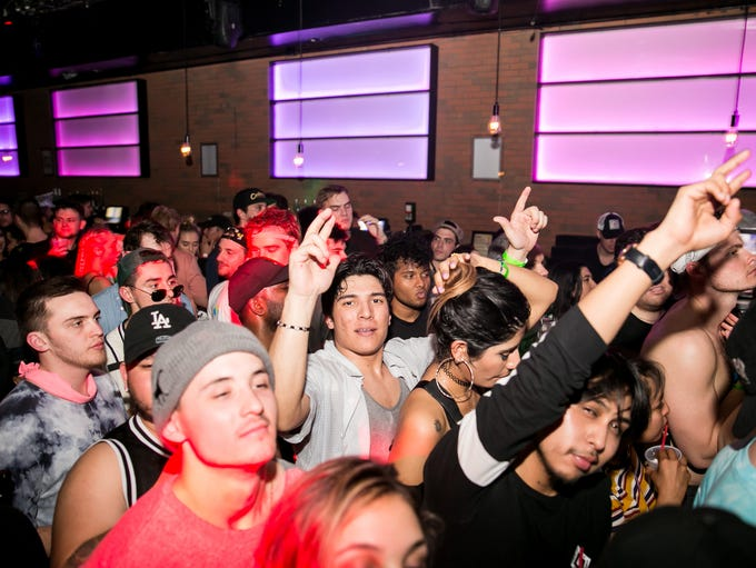 The dance floor was wild during Destructo's set at