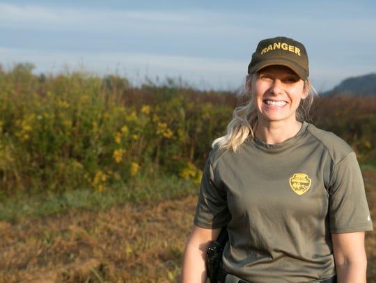 Seven Islands State Birding Park ranger Justine Cucchiara