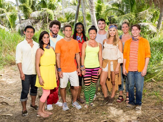 "The Malolo tribe members make up half of the cast of ""Survivor: Ghost Island."" Back row from left are James Lim, Jacob Derwin, Laurel Johnson, Michael Yerger and Janna Bowman. Front row from left are Stephanie Gonzalez, Brendan Shapiro, Stephanie Johnson, Libby Vincek and Donathan Hurley."