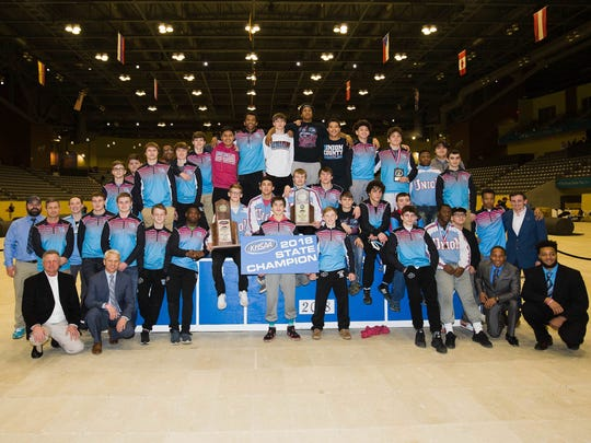 Union County claimed its third straight KHSAA state wrestling championship and its 10th overall Saturday at Alltech Arena in Lexington, Saturday February. 17, 2018.