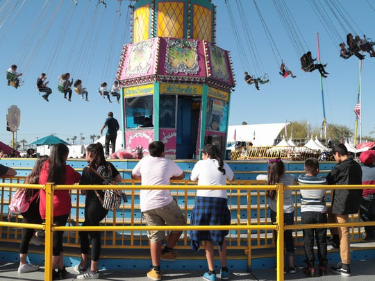 Thousands attend the Riverside County Fair and Date Festival for its opening weekend, Sunday, February 18, 2018.