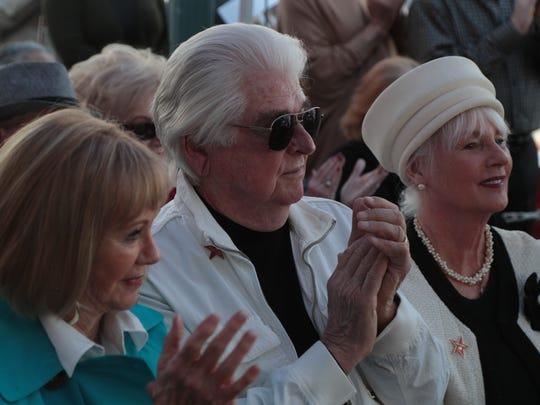 Hugh Kaptur attends the Palm Springs Walk of Stars ceremony for Nelda Linsk, February 22, 2018.