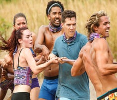 Morgan Ricke, Chelsea Townsend, Wendell Holland, Bradley Kleihege, and Sebastian Noel on Survivor: Ghost Island. The Emmy Award-winning series returns for its 36th season with a special two-hour premiere, Wednesday, Feb. 28 (8:00-10:00 PM, ET/PT) on the CBS Television Network.