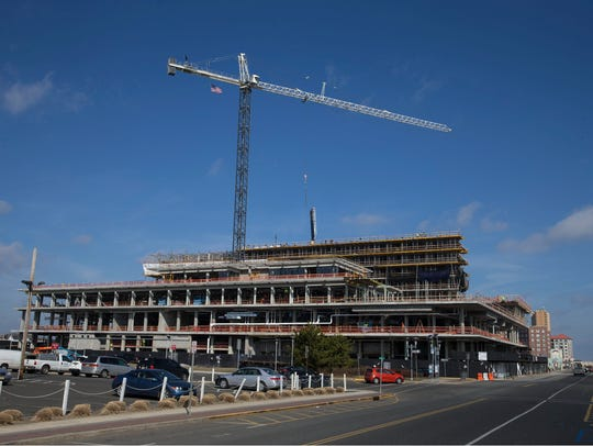 Construction continues at 1101 Ocean Avenue, the former