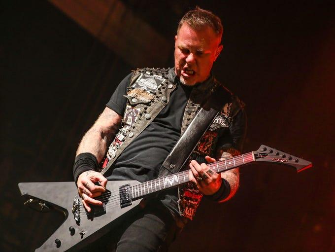 James Hetfield of Metallica performs at The Fonda on