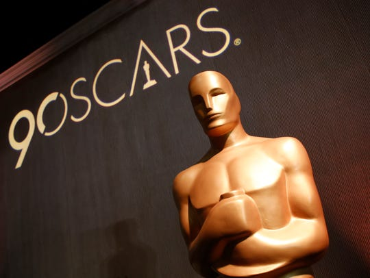 An Oscar statue appears in the ballroom during the