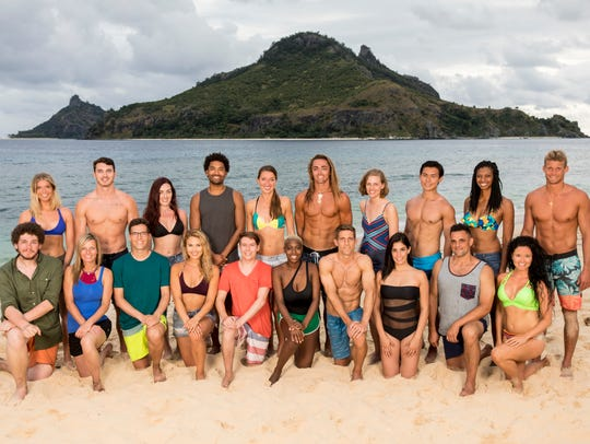 "The 20 castaways competing on ""Survivor"" this season,"