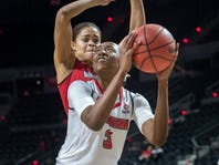 Doucet's record-breaking day powers UL women past McNeese