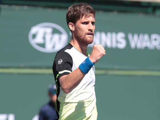 Martin Klizan defeats Darian King to win the final of the Oracle Challenger Series, Sunday, March 4, 2018.