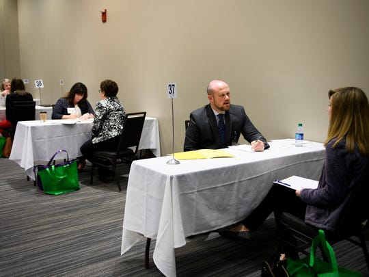 Greenville County Schools hosts the annual Shining Stars Teacher Recruitment event at the TD Convention Center on Monday, March 5, 2018.