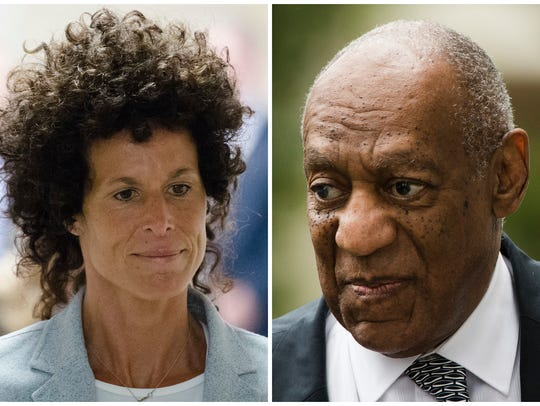 Andrea Constand and Bill Cosby during Cosby's sexual