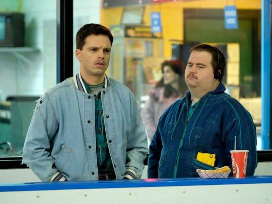 Jeff Gillooly (Sebastian Stan, left) plots with Shawn