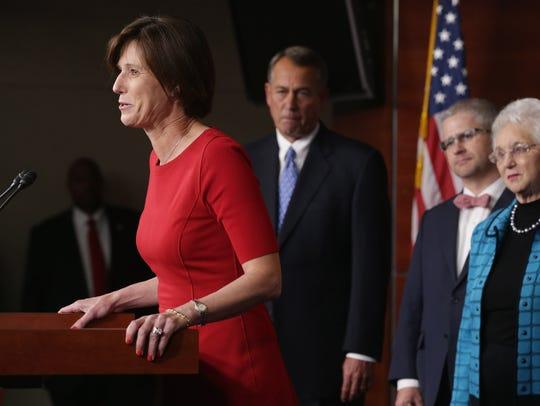 Rep. Mimi Walters with former House SpeakerJohn Boehner