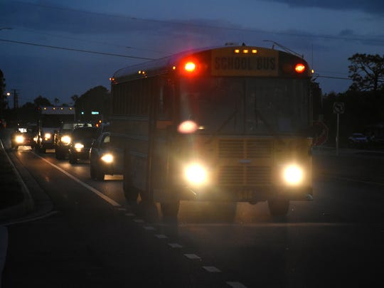 High school students head to school before sunrise. The Florida legislature has approved a measure that, with congressional approval, would move the Sunshine State to Daylight Saving Time year Õround.