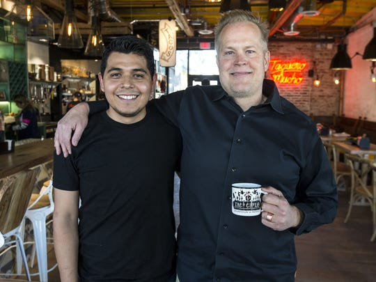 Chef Suny Santana and restaurateur Aaron Chamberlin