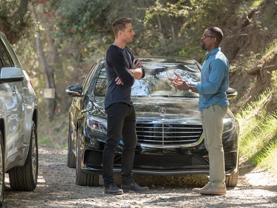 Justin Hartley as Kevin and Sterling K. Brown as Randall