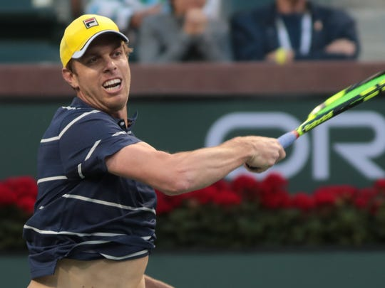 Sam Querrey returns to Feliciano López at the BNP Paribas