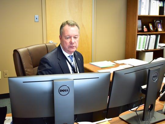 Victor Valeski, Superintendent of East Brunswick Public Schools, in his office Wednesday.