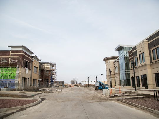 New buildings are constructed in Ankeny's Prairie Trail