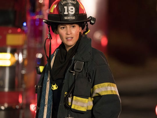 "Jaina Lee Ortiz as Andy on ""Station 19."""