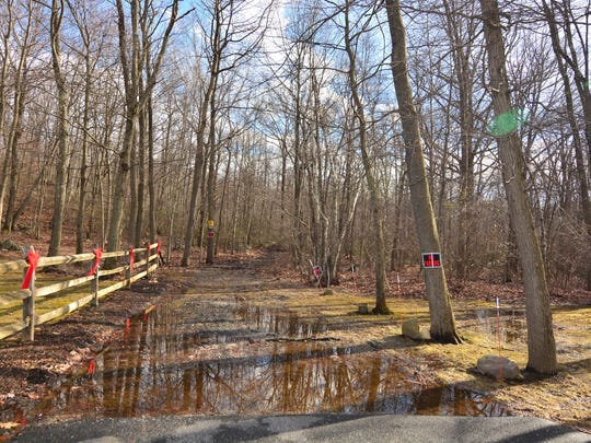 The trailhead is a bit soggy this time of year.