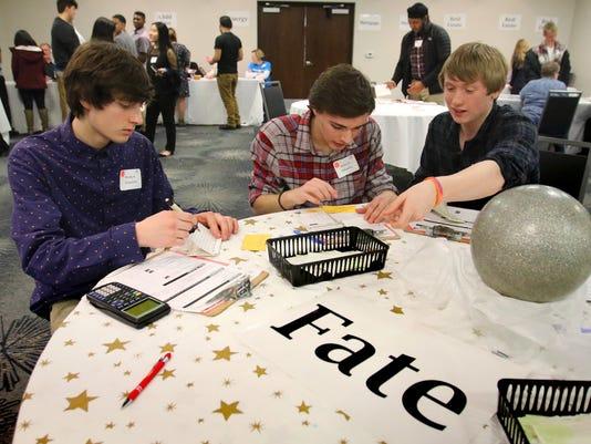Falls juniors receive a financial Reality Check