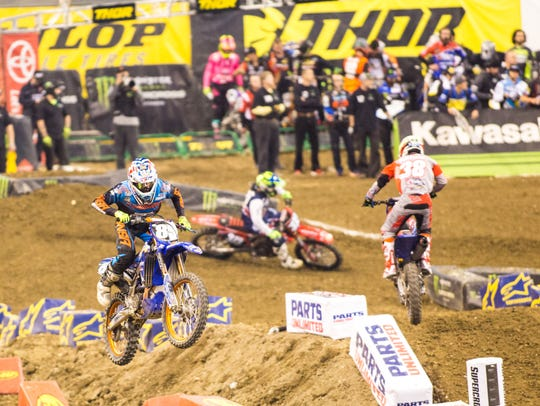 Monster Energy Supercross at Lucas Oil Stadium, Indianapolis,