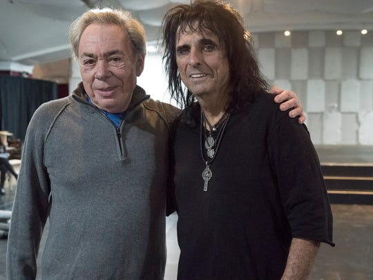 """Jesus Christ Superstar' composer Andrew Lloyd Webber, left, poses with Alice Cooper."