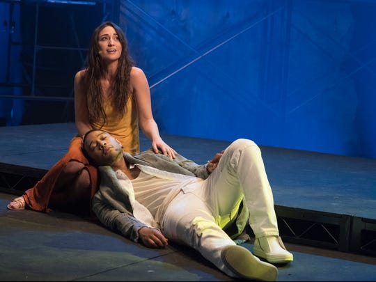 """What Andrew (Lloyd Webber) and Tim (Rice) did so beautifully was really highlight the humanity of these characters, and tease out what is sort of vulnerable, nuanced and broken about Jesus and Mary,"" says Sara Bareilles, pictured with co-star John Legend."