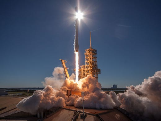 December 2017: A SpaceX Falcon 9 Missile takes off