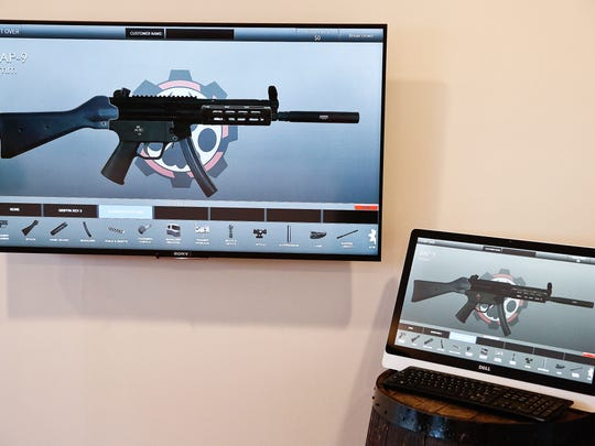 Customers of The Farm are able to digitally design their own firearm through a software program.