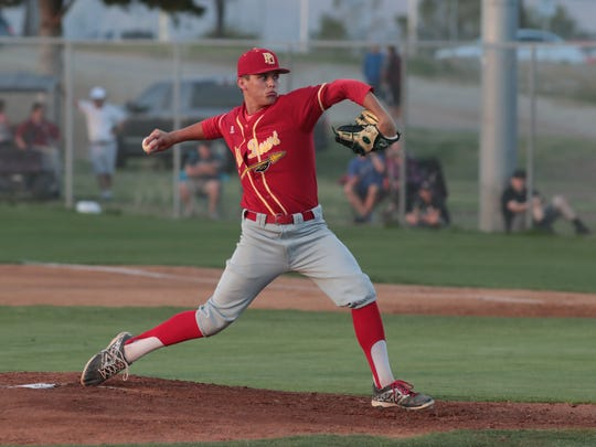 Palm Desert baseball defeats La Quinta in an 11-2 victory over their rival, La Quinta, Calif., April 3, 2018.