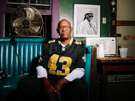 Benny Jones Sr., leader of the Treme Brass Band, before performing at the d.b.a. nightclub in New Orleans. Jones, 74, has been playing traditional New Orleans music since he was a preteen in his Sixth Ward neighborhood. His band plays some of the standards that helped put New Orleans on the global map,