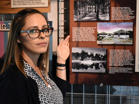 Lisa Marciano, manager of the Naples Depot Museum,