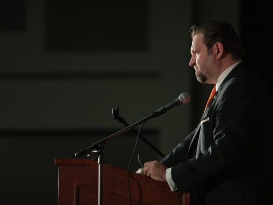 Sebastian Gorka speaks at the Unite Inland Empire Conservative