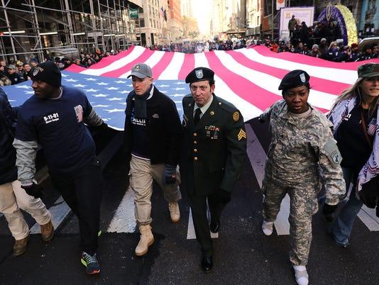 Veterans Day Parade in New York City on Nov. 11, 2017.