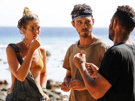 "From left are ""Survivor: Ghost Island"" contestants"