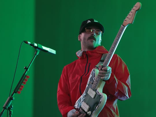 April 15, 2018; Indio, CA, USA; Portugal. The Man performs