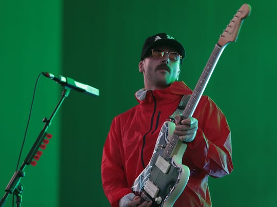 April 15, 2018; Indio, CA, USA; Portugal. The Man performs at the Coachella Valley music and Arts Festival at Empire Polo Club. Mandatory Credit: Zoe Meyers/The Desert Sun via USA TODAY NETWORK