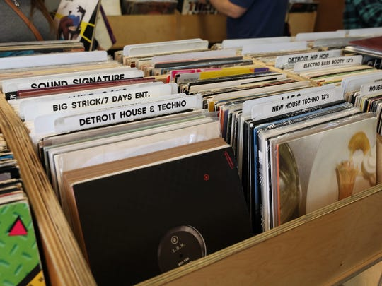 The selection at Hello Records on Bagley in Detroit's Corktown neighborhood.