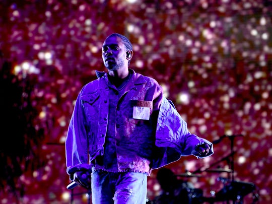 Kendrick Lamar performs during the 2018 Coachella Valley Music And Arts Festival at the Empire Polo Field on April 13, 2018, in Indio, Calif.