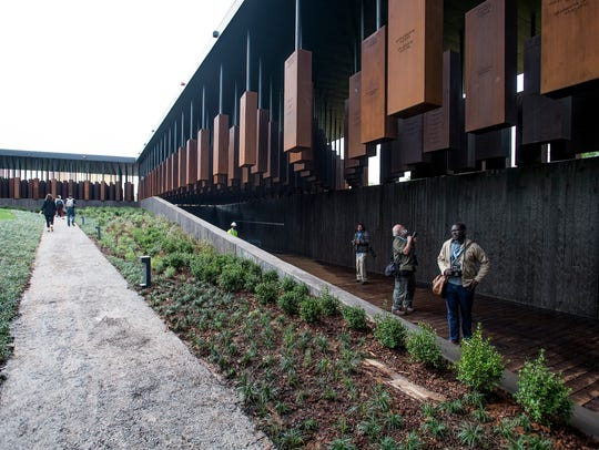 The media is given a tour of the National Memorial