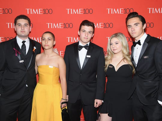 NEW YORK, NY - APRIL 24:  Parkland student activists attend the 2018 Time 100 Gala at Jazz at Lincoln Center on April 24, 2018 in New York City.  (Photo by Dimitrios Kambouris/Getty Images for Time) ORG XMIT: 775155874 ORIG FILE ID: 950881186