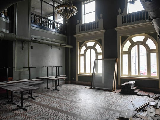 "Plans are for the former lobby of the Historic Soaper Hotel, with it's tiled floor and chandelier, to become a small event and reception space with a 1920's vide calling it ""The Gatsby"" Thursday, April 26, 2018."