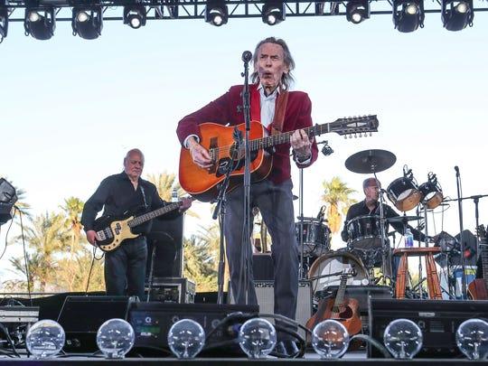 Apr 29, 2018; Indio, CA, USA; XXX Gordon Lightfoot at the Stagecoach Country Music Festival at Empire Polo Club. Mandatory Credit: Jay Calderon/The Desert Sun via USA TODAY NETWORK