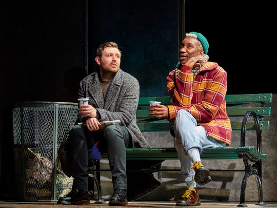 "James McArdle and Nathan Stewart-Jarrett in ""Angels in America: Millennium Approaches."""