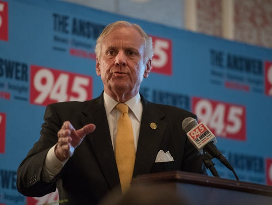 Governor Henry McMaster answers questions at a forum