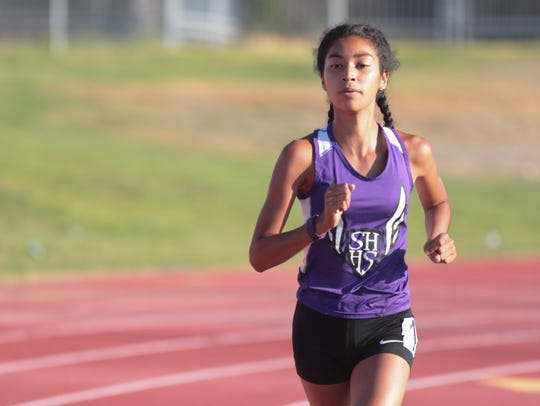 Nyah Chavez leads the field to her win of the girls