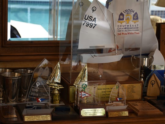 "The ""Ryan Shrine,"" his collection of trophies at the"