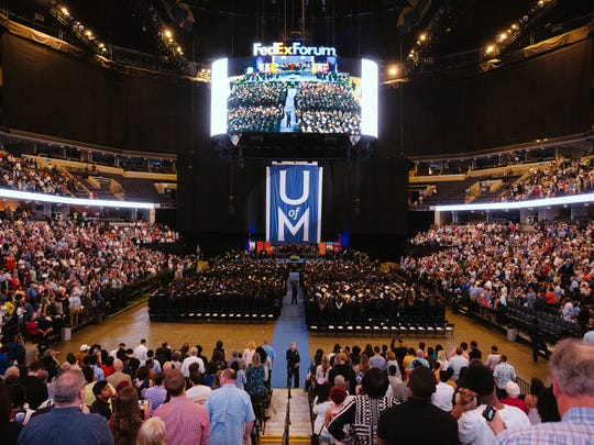 Students from University of Memphis schools graduate at FedEx Forum Saturday, May 05, 2018